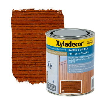 Lasure portes & châssis Xyladecor teck 750 ml