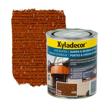 Xyladecor Ramen & Deuren UV-plus beits teak 750 ml