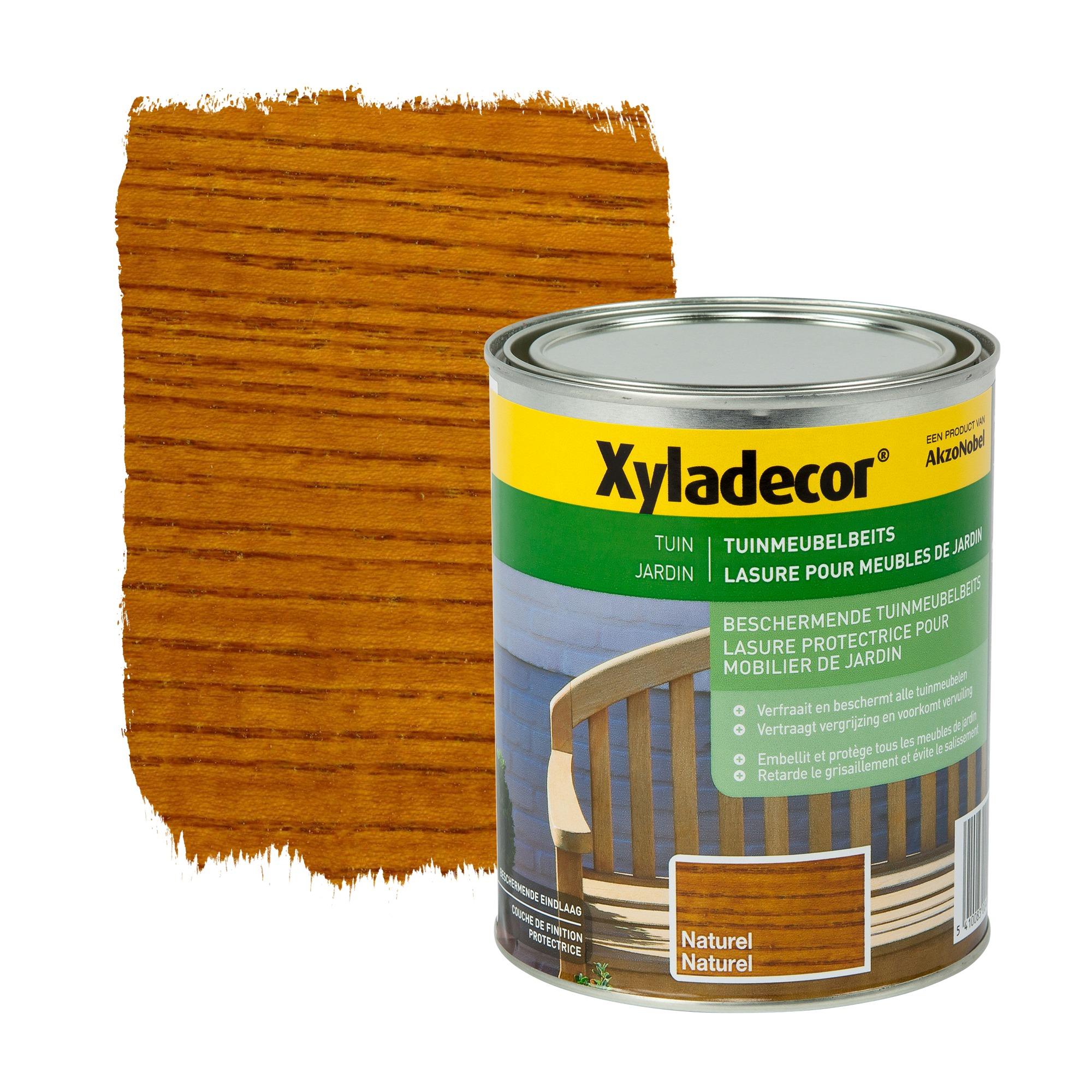 Lasure pour meubles de jardin xyladecor naturel 1 l for Lasure blanche pour meubles