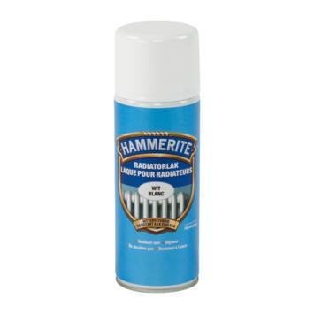 Hammerite radiatorverf zijdeglans wit 400 ml