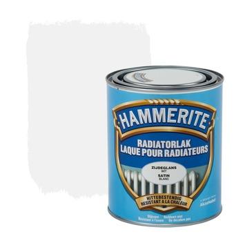 Hammerite radiatorverf zijdeglans wit 750 ml