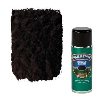 Laque pour métal Hammerite mat noir 400 ml