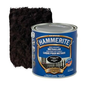Laque pour métal Hammerite brillant noir 2,5 L