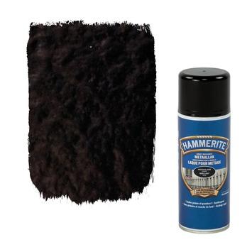 Laque pour métal Hammerite brillant noir 400 ml