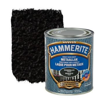 Hammerite metaallak hamerslag zwart 750 ml