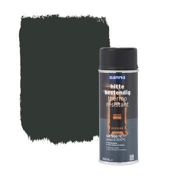 Laque thermo résistante en aérosol GAMMA mat 400 ml noir