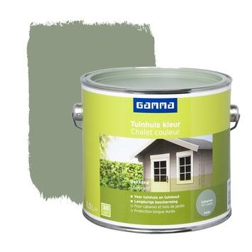 Lasure chalet couleur GAMMA satin 2,5 L vert sauge