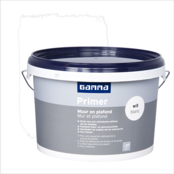 Primer mur et plafond GAMMA 2,5 L blanc