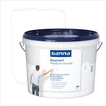 Peinture Murale Gamma Mat 10 L Blanc Gamma Be