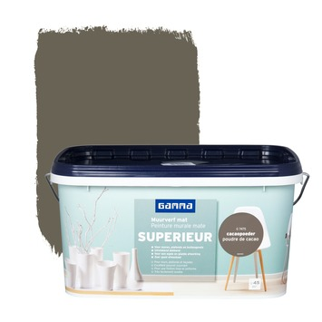 GAMMA Superieur muurverf extra mat cacaopoeder 5 L