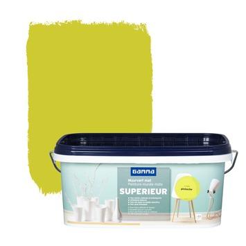 Peinture murale GAMMA SUPERIEUR extra mat pistache 2,5 L