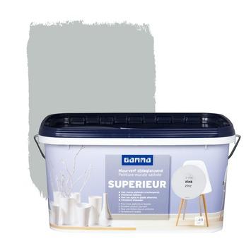 Peinture murale GAMMA SUPERIEUR satin zinc 5 L