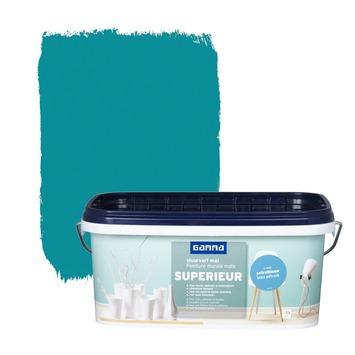 GAMMA Superieur muurverf mat petrolblauw 2,5 L