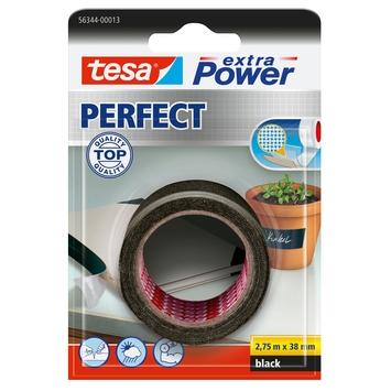 Tesa Extra Power Perfect Ruban adhésif de réparation 2,75 m x 38 mm noir