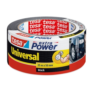 Tesa Extra Power Ruban de réparation 25 m x 50 mm noir