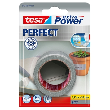 Tesa Extra Power perfect reparatietape 2,75 m x 38 mm grijs