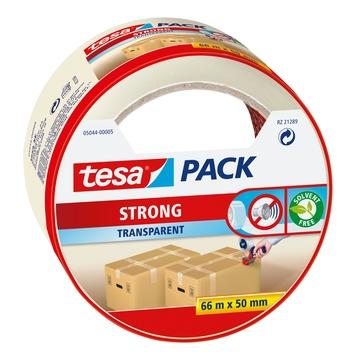 Tesa Ruban adhésif d'emballage 66 m x 50 mm transparent