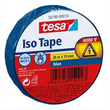 Tesa isolatietape 20 m x 19 mm blauw