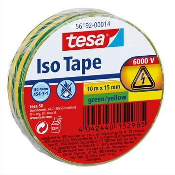 Tesa isolatietape 10 m x 19 mm groen/geel