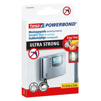 Tesa Powerbond Ultra Strong montagetape pads wit 9 st