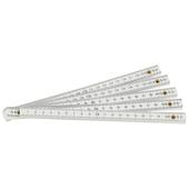 OK mètre pliante PVC blanc 2 m