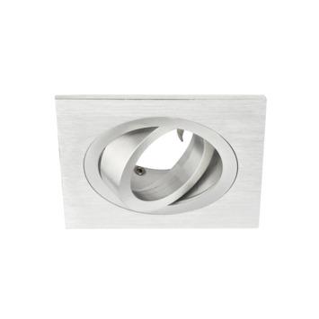 GAMMA inbouwspot vierkant GU10 excl. lamp richtbaar aluminium