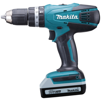 Makita accuklopboormachine 18V + 70 accessoires HP457DWEX4
