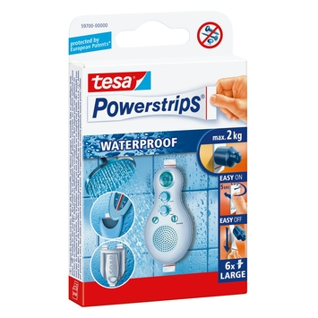 Jeu de Powerstrips Waterproof Tesa 6 pièces