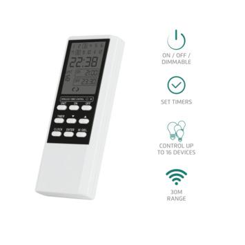 Télécommande 16 canaux, minuterie et écran LCD ATMT-502 Trust Smarthome