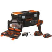 Black+Decker accuklopboormachine 18V BDCHD18S2KA-QW met toolbox