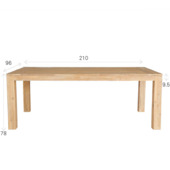 Table Touros 210 cm