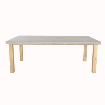 Table Milan avec plateau en ciment 210 cm