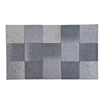 Pavé non vibré 15x15x6 cm gris-noir
