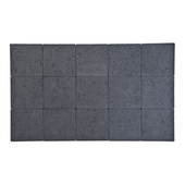 Kassei ongetrommeld 15x15x6 cm zwart