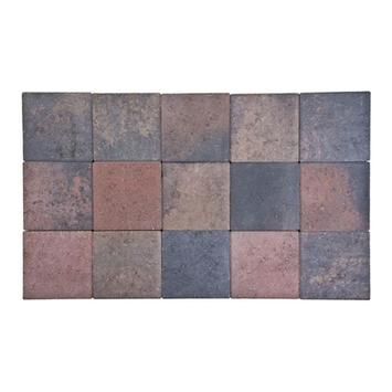 Kasseien Beton Getrommeld Bruin 15x15x6 cm - 120 Stuks / 2,76 m2