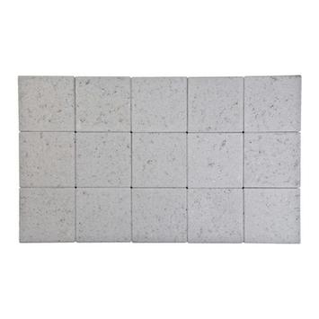 Kasseien Beton Ongetrommeld Licht Grijs 15x15x6 cm - 120 Stuks / 2,76 m2