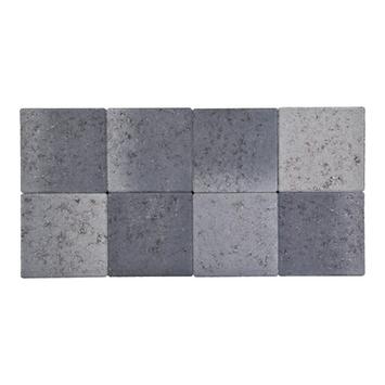 Kasseien Beton Getrommeld Grijs/Zwart 20x20x6 cm - 72 Stuks / 2,88 m2