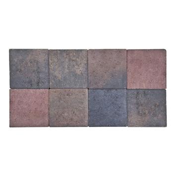 Kasseien Beton Getrommeld Bruin 20x20x6 cm - 72 Stuks / 2,88 m2