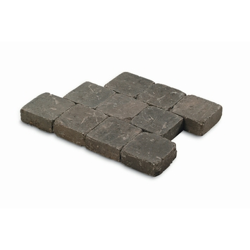 Kasseien Beton Getrommeld Zwart/Grijs 15x15x6 cm - 420 Stuks / 9,66 m2