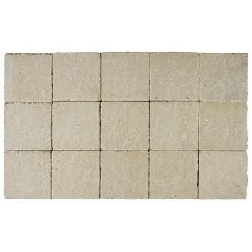 Kasseien Beton Gehamerd Geel 15x15x6 cm - 520 Stuks / 11,96 m2