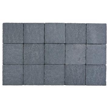 Pavé martelé 15x15x6 cm pierre bleu