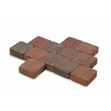 Kasseien Beton Getrommeld Bruin 15x15x4 cm - 630 Stuks / 14,49 m2