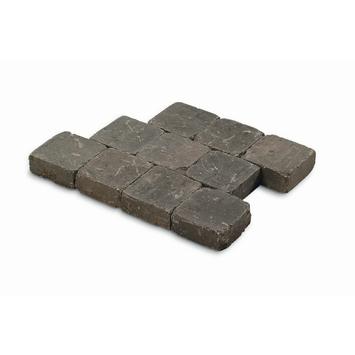 Kasseien Beton Getrommeld Grijs/Zwart 15x15x4 cm - 630 Stuks / 14,49 m2