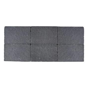 Kasseien Beton Getrommeld Zwart 20x30x6 cm - 48 Stuks / 0,06 m2