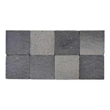 Kasseien Beton Getrommeld Zwart/Grijs 20x20x6 cm - 72 Stuks / 2,88 m2