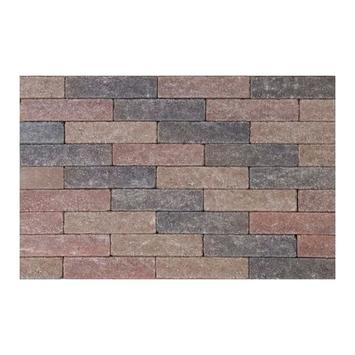 Kasseien Beton Getrommeld Bruin/Rood 20x5x6 cm - 936 Stuks / 9,36 m2