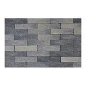 Kassei gehamerd 20x5x6 cm grijs-zwart