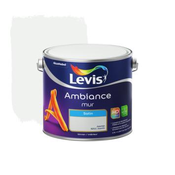 Peinture Ambiance Mur Levis satinée 2,5 L jasmin