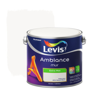 Peinture Ambiance Mur Levis extra mate 2,5 L requin blanc