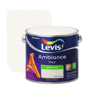 Peinture Ambiance Mur Levis extra mate 2,5 L vanille